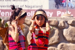 lotha girls in traditional costume tokhu emung